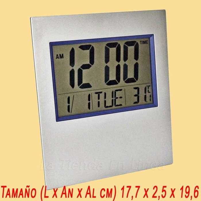 Reloj Mini Pared/ Mesa Digital Termometro Timer Alarma Fecha