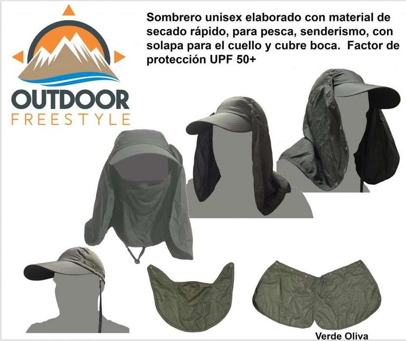 <strong>gorras</strong> tipo pesca, o senderismo, de tela de secado rápido (dry-fit). Factor de protección UPF 50