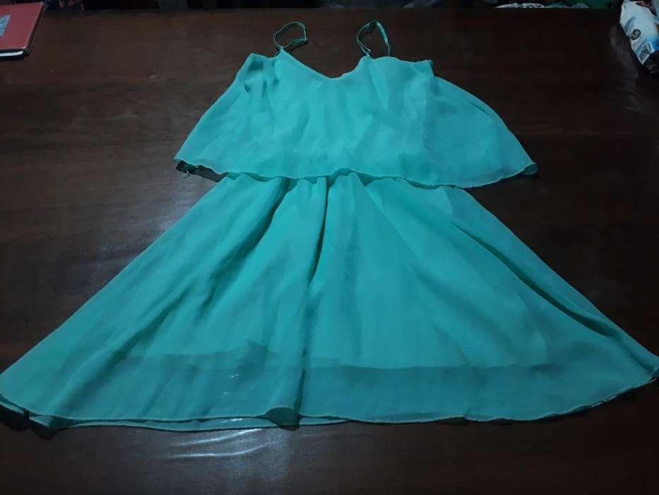 Vestido Verde Agua de Fiesta