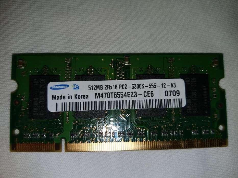VENDO POR 150.000 NEGOCIABLES 2 MEMORIAS RAM USADAS SAMSUNG M470T6554EZ3-CE6 0709 PARA PORTÁTIL