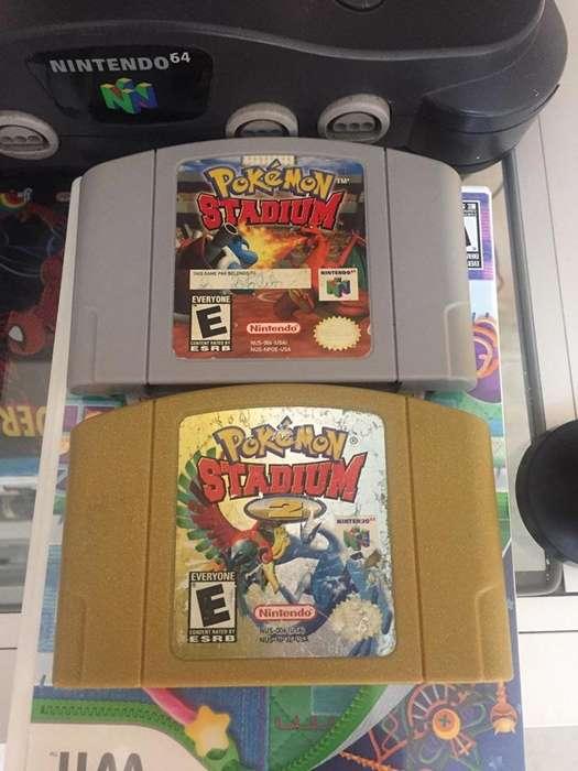 Juegos Nintendo 64 Pokemon stadium 1 y 2