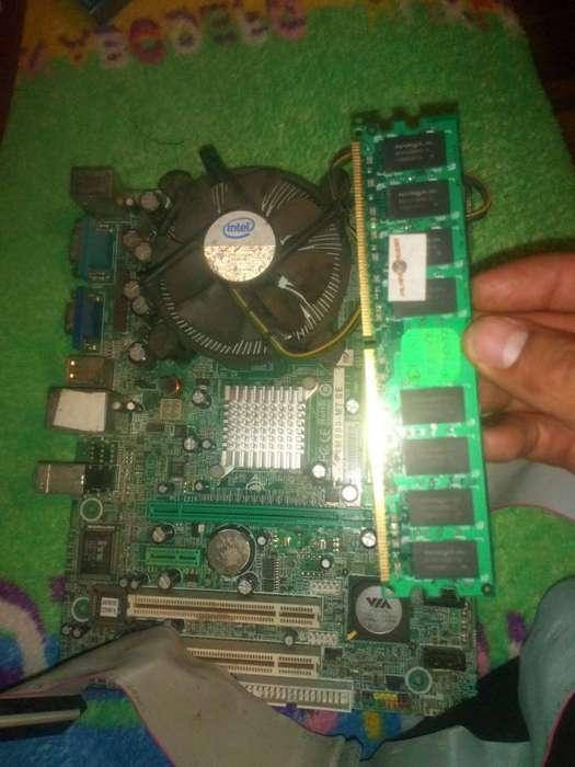 Vendo Placa de Pc Core Duo Procesador