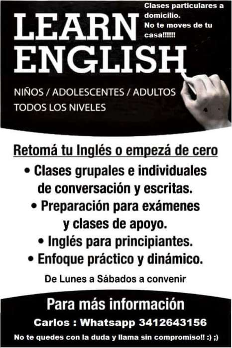 Ingles a Domicilio..particular Cursos