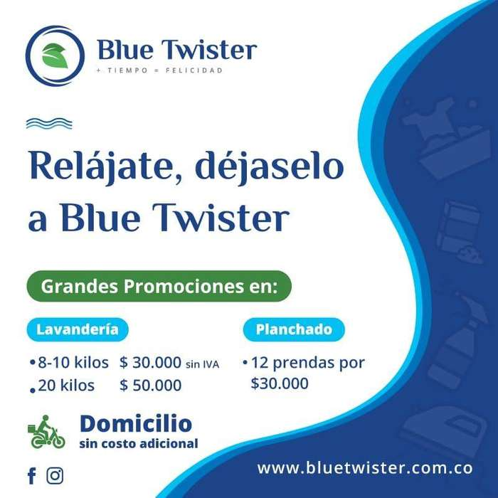 blue twister lavandería