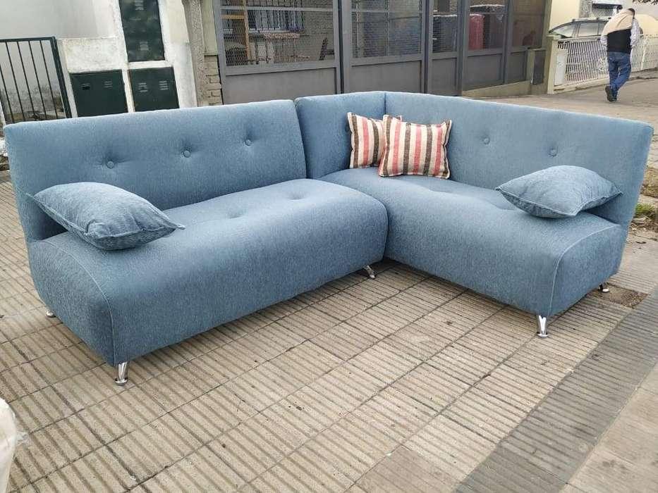 Oferta!!! Sillón Sofa Esquinero En Tela Chenille. Entrega inmediata. Envíos