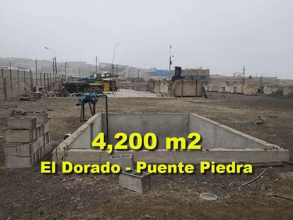 Vendo Terreno Industrial de 4,200 m2 en Puente de Piedra.