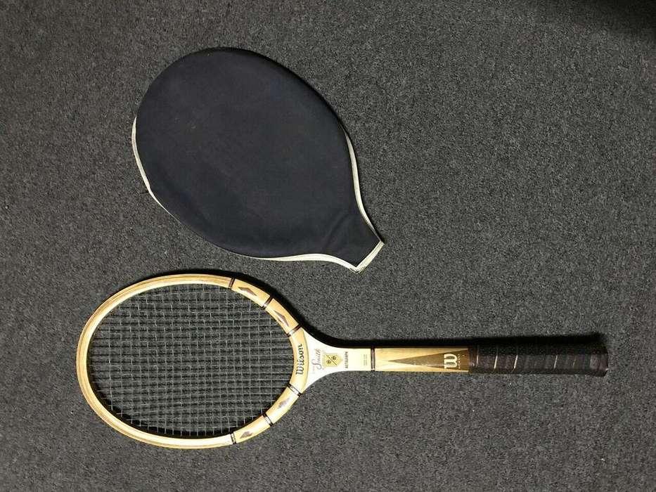 Raqueta De Tenis Wilson Original De Madera Stan Smith Usa