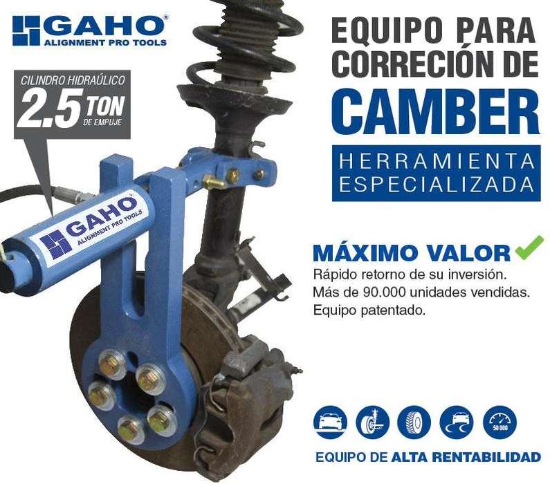 ALINEADOR DE CAMBER, ENDEREZADOR DE AROS, COMPRESOR RESORTES GAHO