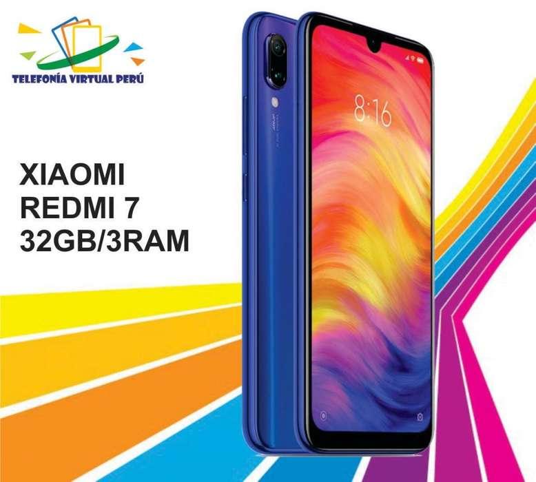 XIAOMI REDMI 7 32GB/3RAM NUEVO SOMOS TELEFONIA VIRTUAL PERU