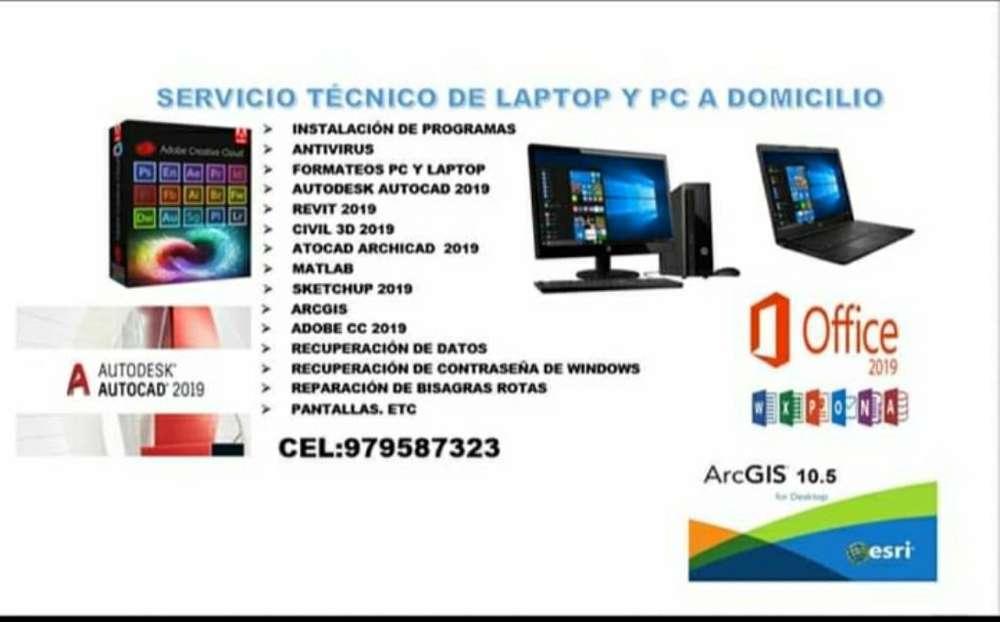 Servicio Técnico a Domicilio Pc Y Laptop