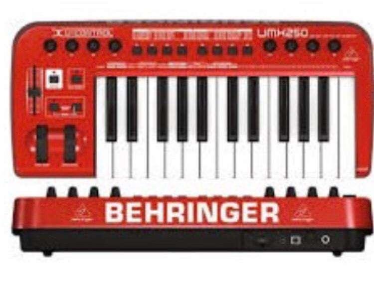 Behringer UControl Umx250 Controlador 25 Teclas Usb Midi