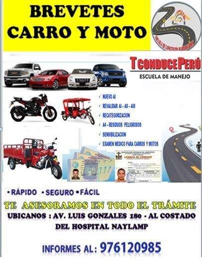 LICENCIA DE MOTO Y CARROS