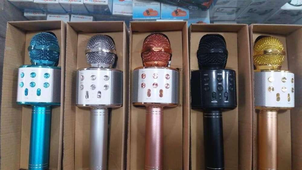 Microfono Karaoke Bluetooth Inalámbrico Usb Parlante
