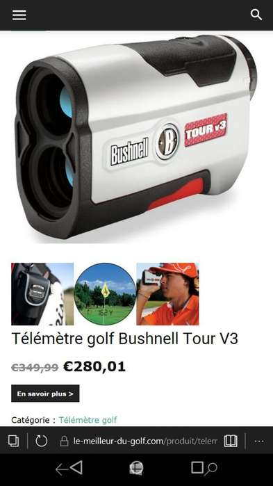 Telemetro Golf Bulshnell Tour V3