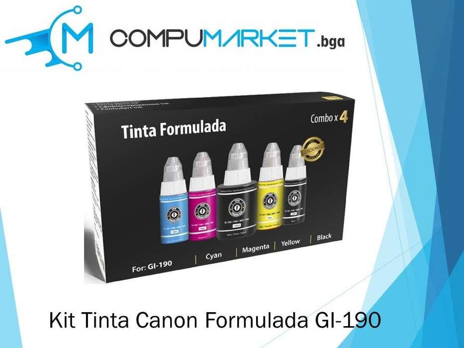 Kit Tinta Canon Formulada GI-190 nuevo y facturado