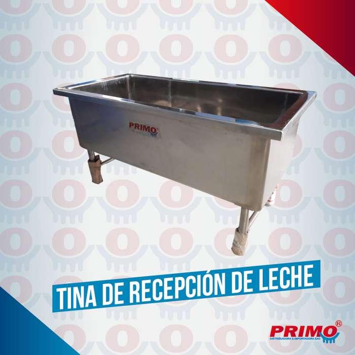 Tina para recepción de leche ideal para ganadería e industria lactea