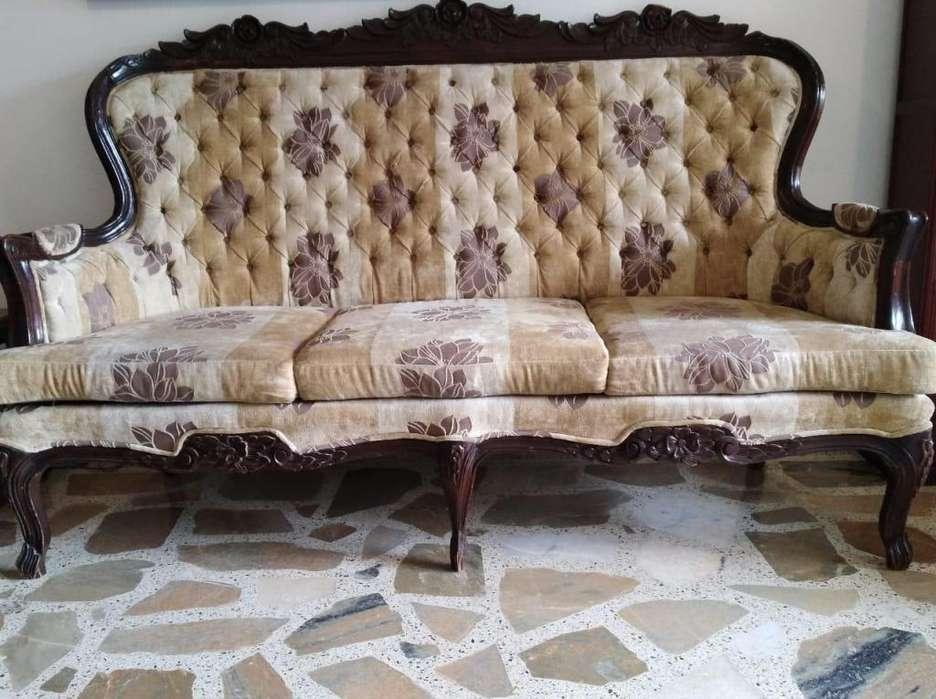 Juego de Sala entero Luis Xv Usado Marrón pintura Original tapiz casi nuevo Mesas <strong>sillas</strong> Sofá