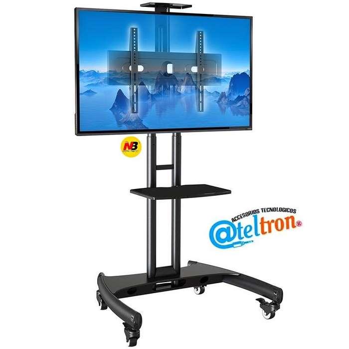 Soportes bases a piso con ruedas para televisores LCD LED de 32- 65 pulgadas.