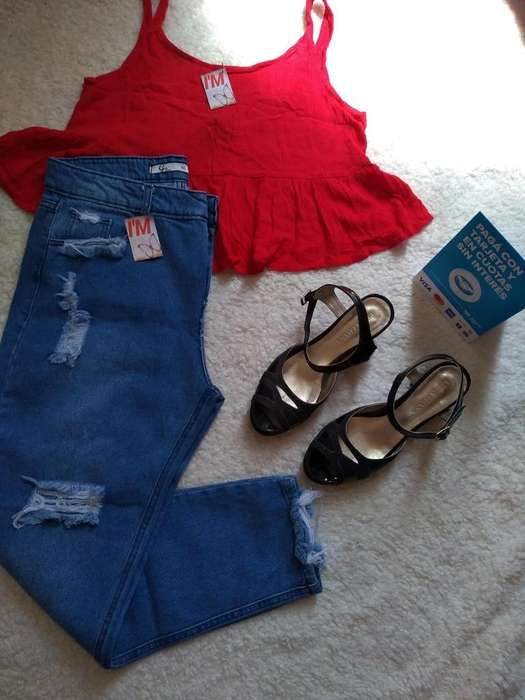 Jeans Mom talle 40 y 42