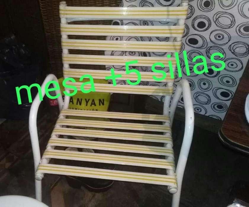 Mesa de Jardin con 5 <strong>silla</strong>s