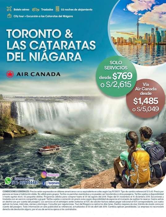 30-08- Viaje a Toronto súper económico salida desde Lima