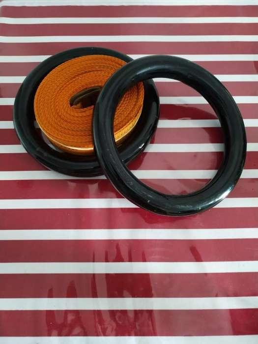 Par de anillas de suspension, Metalicas