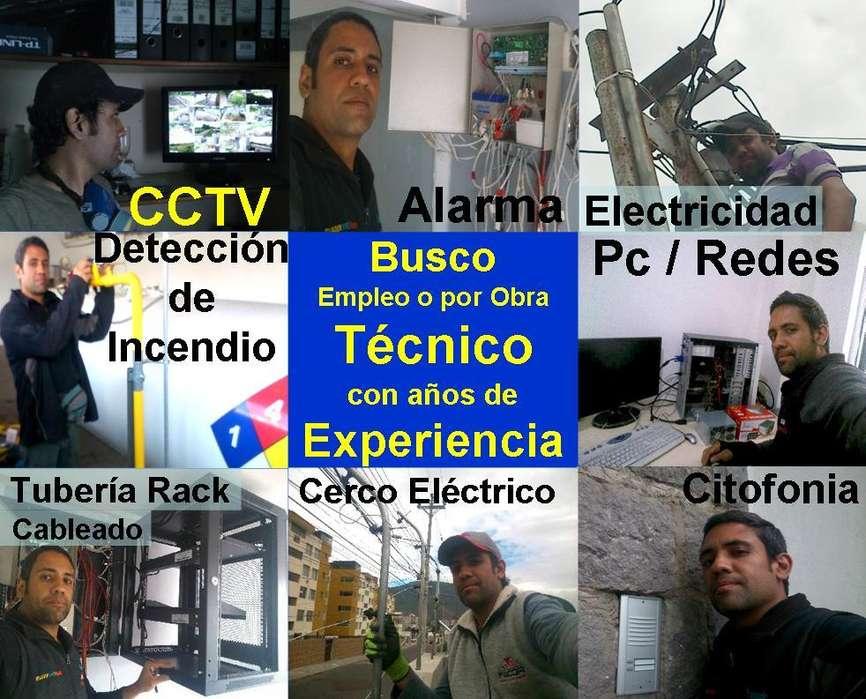 Tecnico CCTV Alarma Incendio citofonia Acceso Cerco electrico PC red