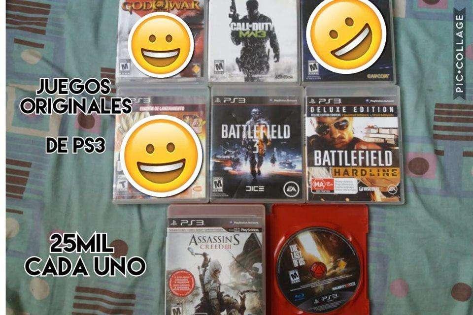 juegos originales de ps3 a 25mil cada uno precio fijo