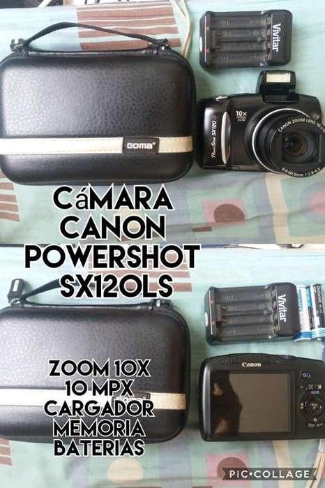 camara canon powershot 10x 10mgpx cargador venta cambios