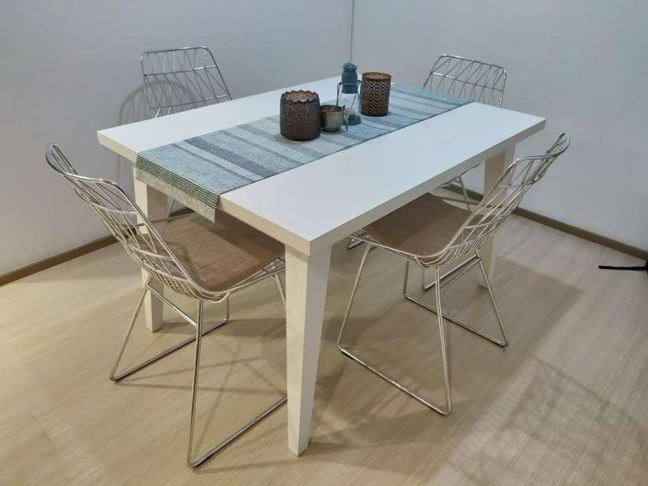 <strong>mesa</strong> Comedor 120x80, Cedro, Color Blanco