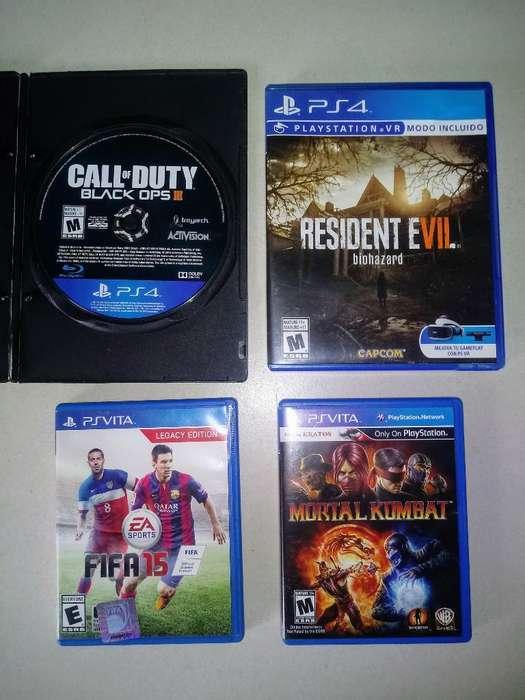 Vendo Juegos de Play 4 Y Ps Vita