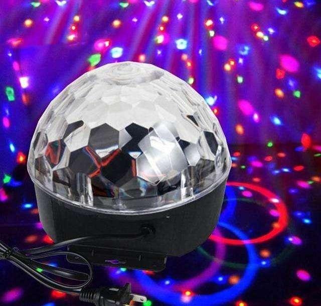 Bola LED Multicolor para Fiestas con Sensor de Sonido
