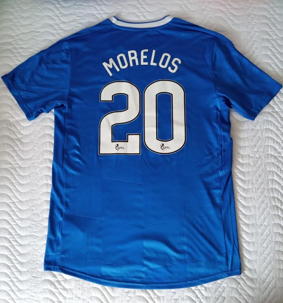 camiseta Alfredo Morelos, Glasgow Rangers 2016 2017 2018