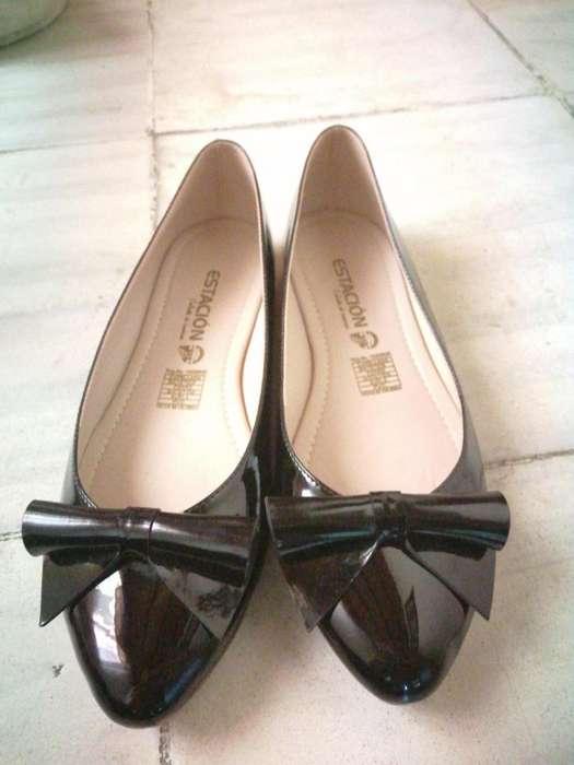 Baletas negras talla 39
