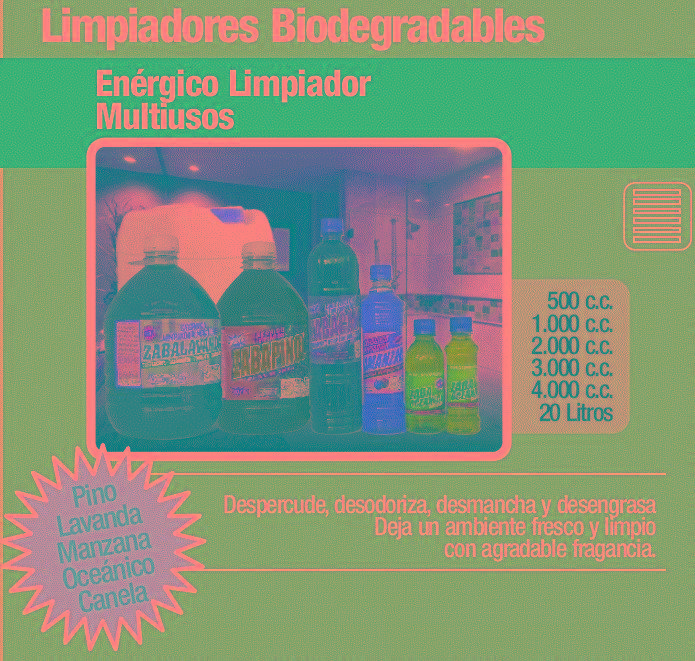LIMPIADOR MULTIUSOS CONCENTRADO O BIODEGRADABLE 1000 ML