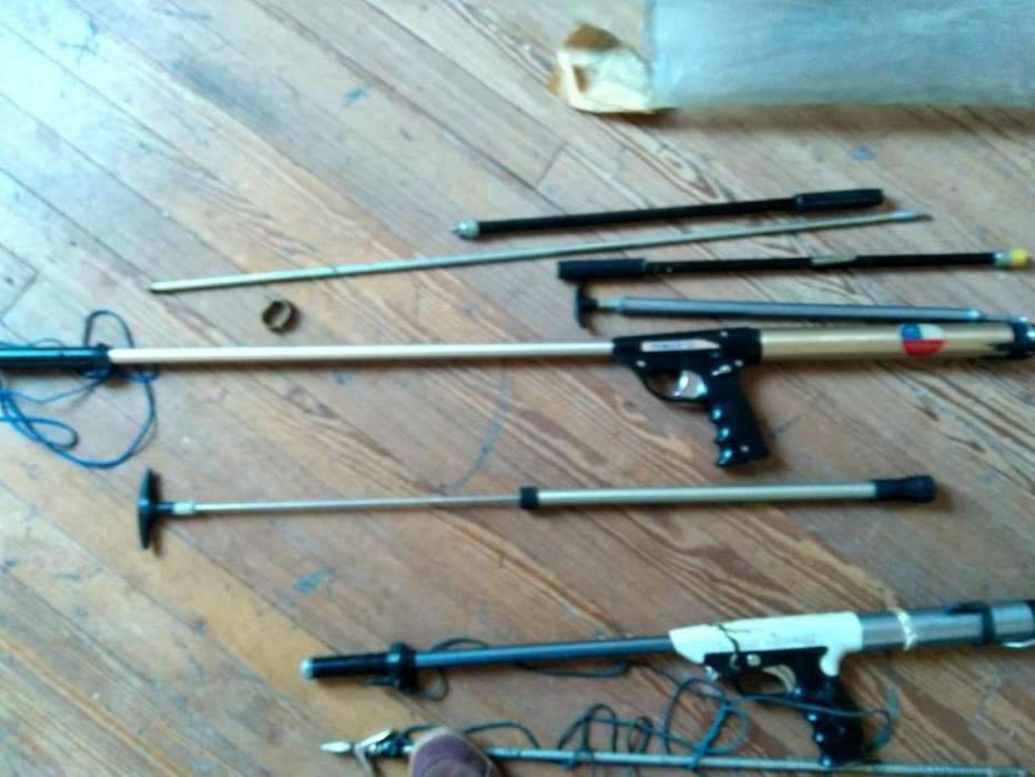 2 arpones de pesca