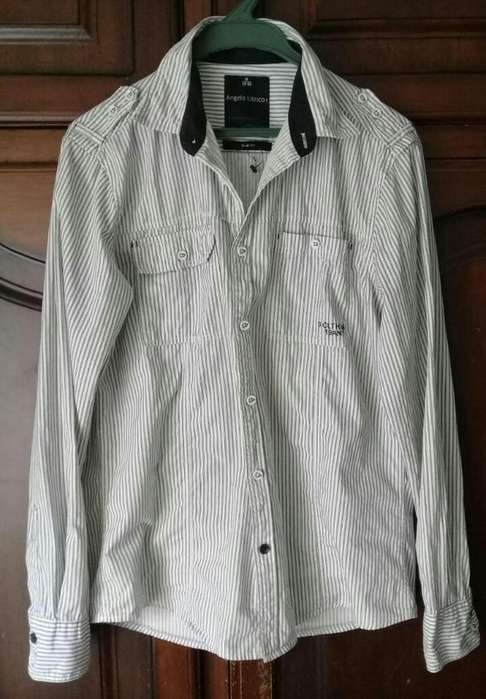 Camisa Italiana Hombre M Como Nueva