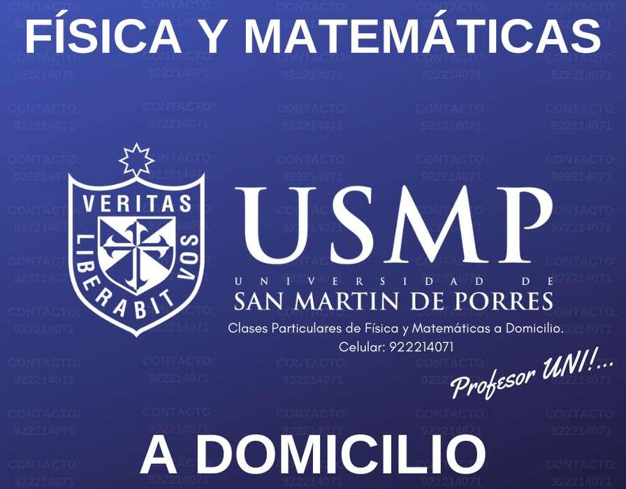 APOYO EN MATEMÁTICA P/ALUMNOS ESTUDIANTES DE LA SAN MARTÍN. CLASES OBJETIVAS Y PRÁCTICAS. PROFESOR UNI. EXPERIENCIA