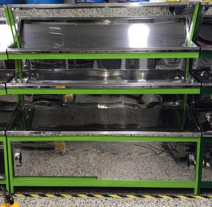 Gondola para Verdura en Acero Fabrica