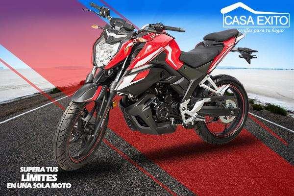 Moto Loncin Cr5 Pro 250cc Con Radiador de Aceite Año 2019 Rojo / Negro Casa Éxito