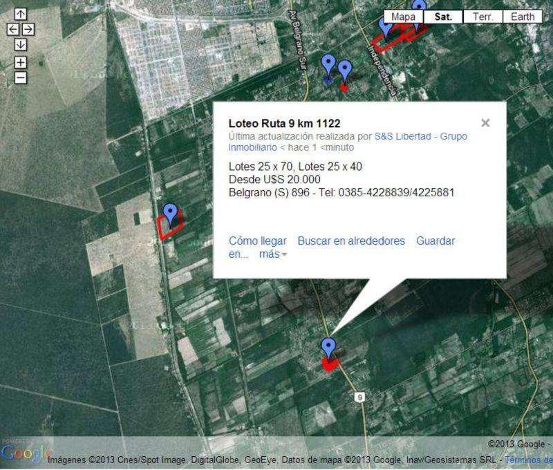 Zanjon Ruta 9 Km 1122 - Lote - S & S Libertad Grupo Inmobiliario