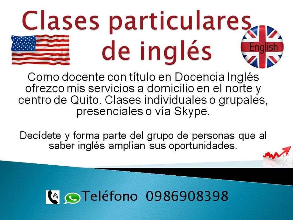 clases de ingles para niños, adolescentes o adultos, particulares o grupales