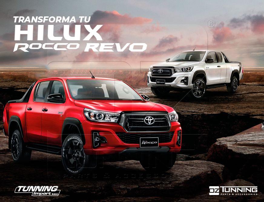 Accesorios Toyota Hilux: Kit Rocco, Kit Rocco TRD, Máscaras Revo, Fenders, Neblineros