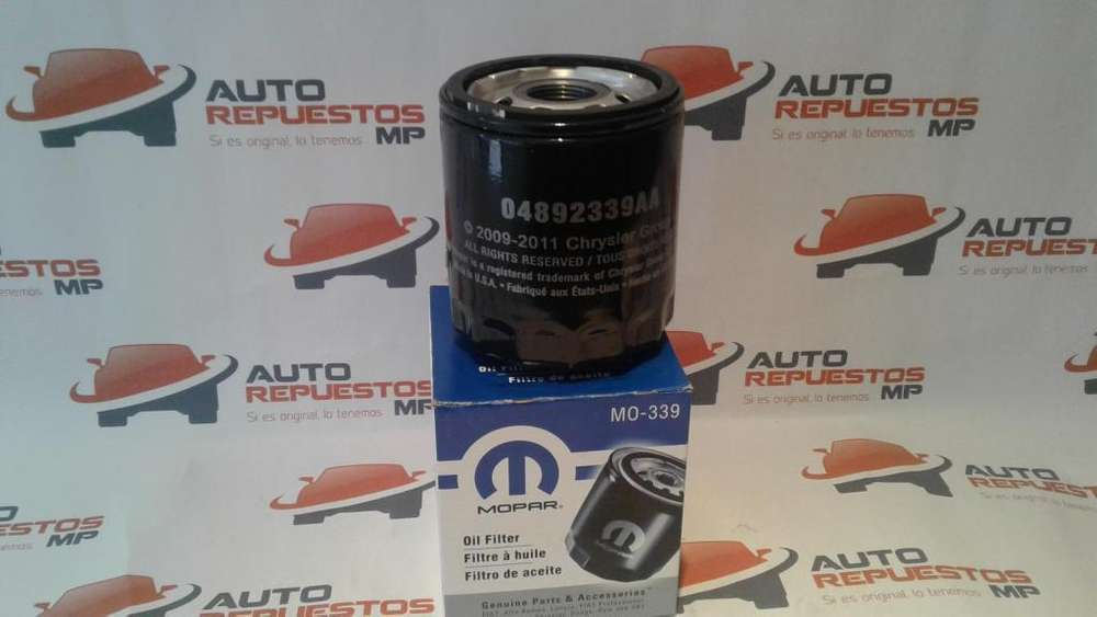 FILTRO ACEITE CHRYSLER JEEP COMPASS AUTOREPUESTOS MP GUAYAQUIL