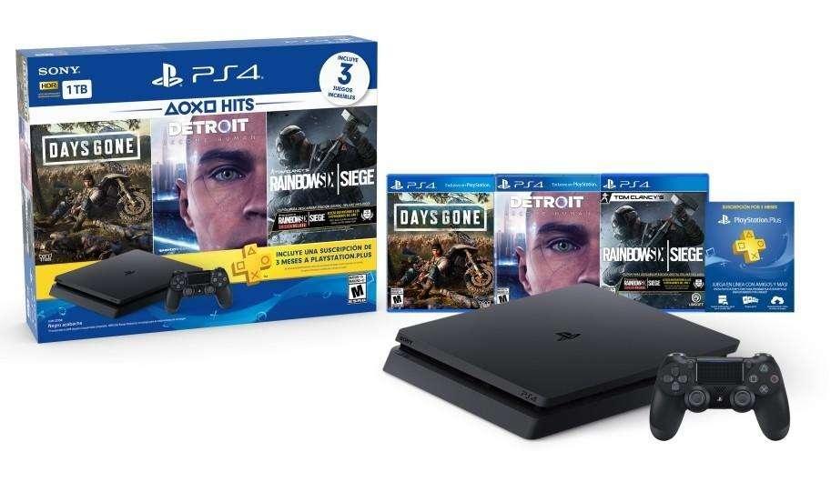 PS4 SLIM 1TB BUNDLE DAYS GONE, DETROIT Y RAPS4 SLIM 1TB BUNDLE DAYS GONE, DETROIT Y RAINBOW SIX, TIENDATOPMK