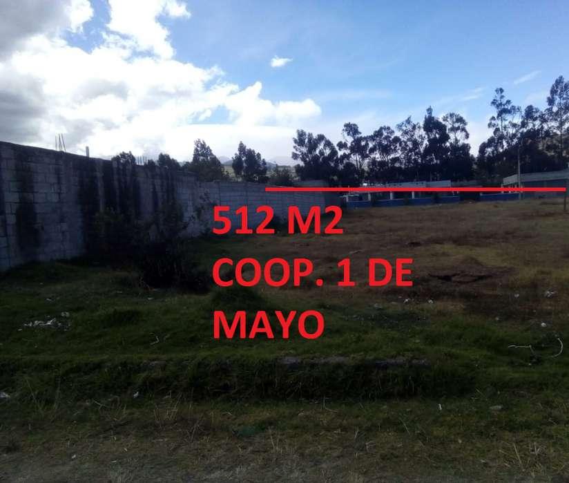 Terreno de 512 m2 en Cayambe, cooperativa 1 de Mayo
