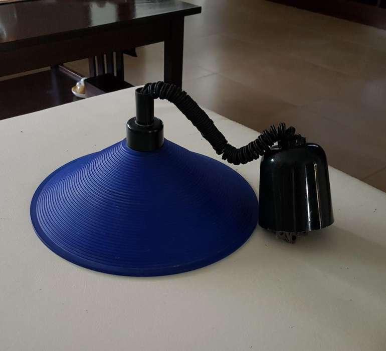 Lámpara de Vidrio Azul
