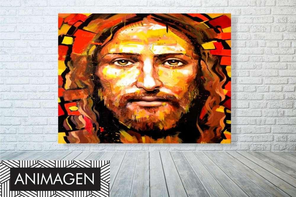 Obra de cristo colorido 9668