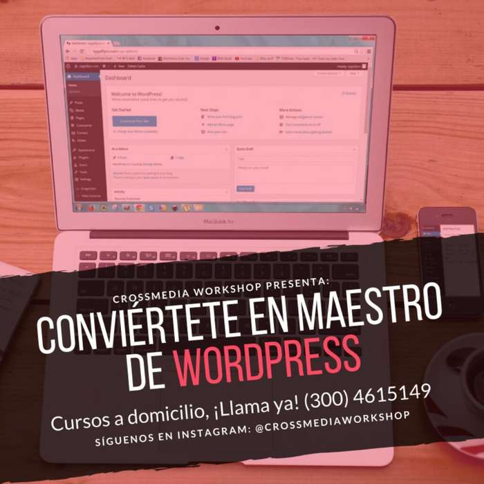 Curso de Wordpress a Domicilio en Bogota 2019, ¿Como usar Wordpress? Clases a Domicilio Bogotá septiembre 2019