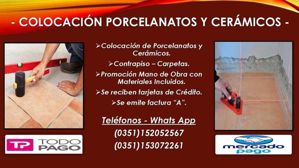 COLOCACION DE PORCELANATOS Y CERAMICOS